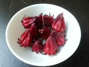 Fresh Roselle fruits