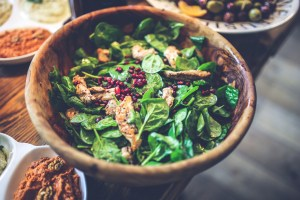 A healthy meal from whole foods
