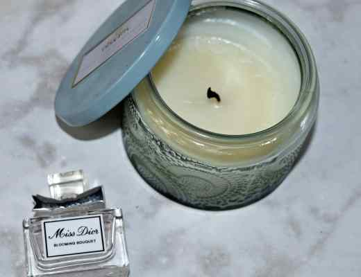 Picture of Miss Dior Blooming Bouquet Perfume and Volupsa French Cade Lavendar Candle