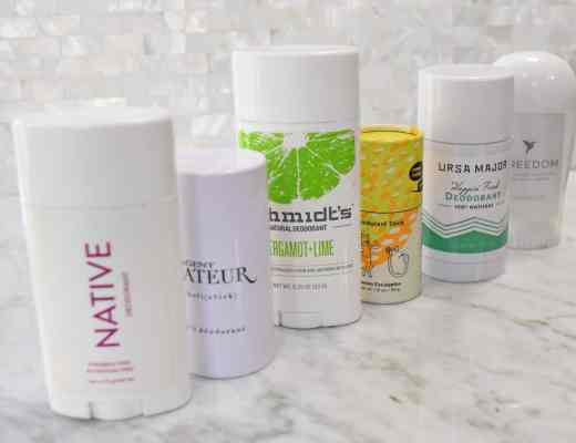 Pictures and reviews of the best natural deodorants: Native Natural Deodorant and Agent Nateur. Also reviewed Schmidt's and Ursa Major
