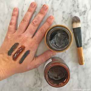 Picture, reviews and swatches of organic antioxidant cacao face masks: Mahalo the Bean on the left, Birchrose Co in the middle and Josh Rosebrook antioxidant mask on the right