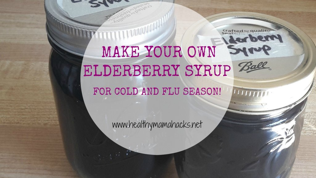 Make your own elderberry syrup for cold and flu season!