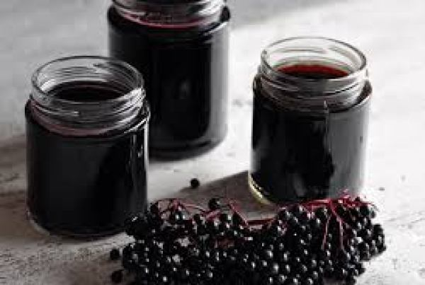 Learn how to make elderberry syrup to prevent and heal from colds and flu!