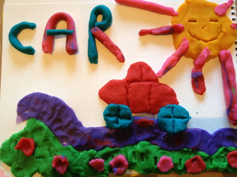Easy Play Dough Art