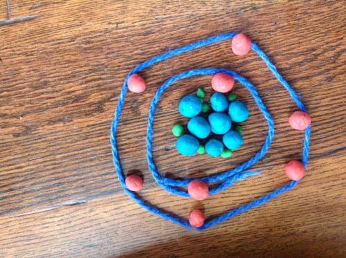 small resolution of we were studying the atomic number and made a play dough model of an oxygen atom in our home school the model is based on this picture