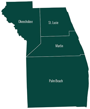 Treasure Coast County Map by the American Planning Association Florida Chapter