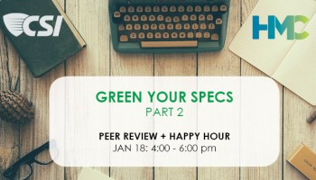 Green Your Specs Workshop: Part 1 – Healthy Materials