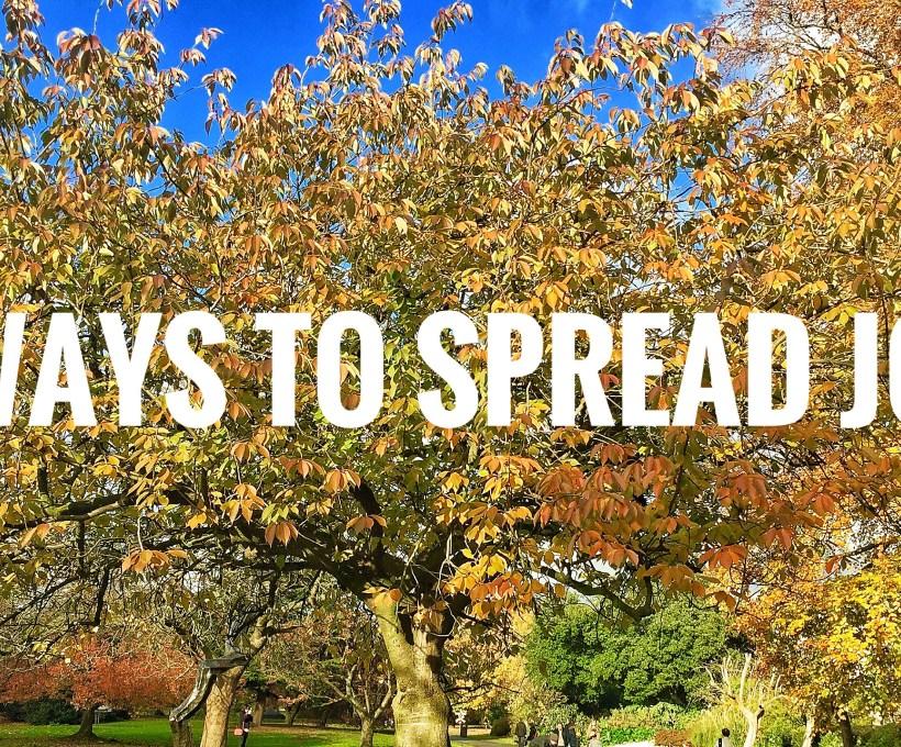 7 Ways to Spread Joy