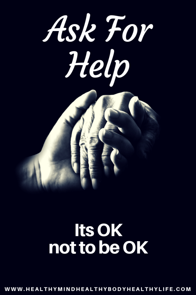 It's ok not to be ok. It's ok to ask for help. We all struggle with life in different ways and try to hide it. Open up and let your loved ones help!