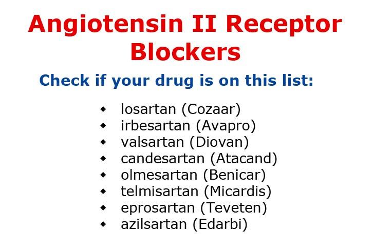 Angiotensin II Receptor Blockers - Healthy Mixer