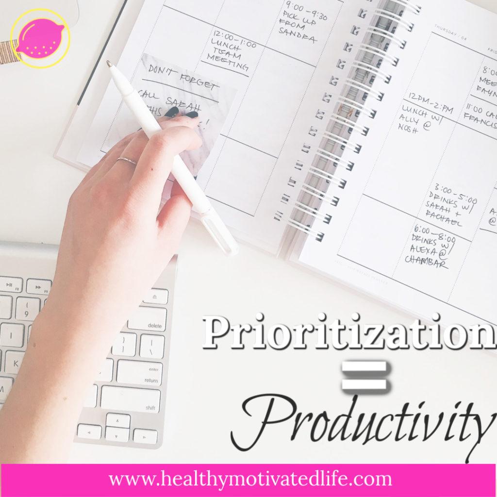 Prioritization Productivity