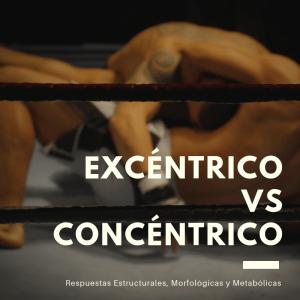 Adaptaciones Entrenamiento Excéntrico y Concéntrico