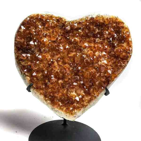 Astro Of Gems Citrine Cluster Heart Large