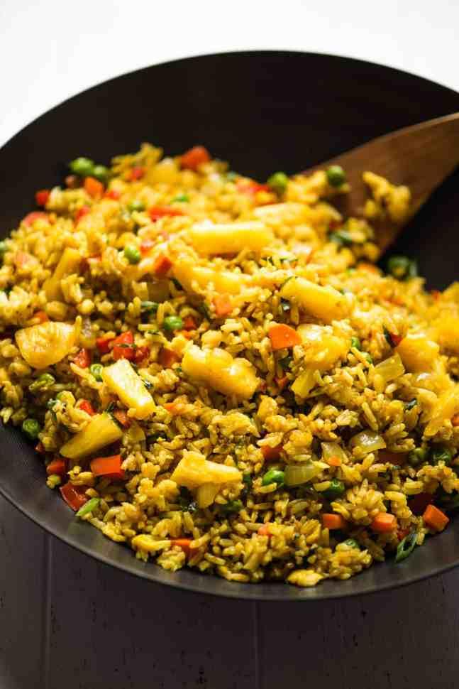 simple dinner ideas, HEALTHY Pineapple Fried Rice