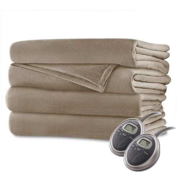 Velvet Plush Electric Blanket Queen Size