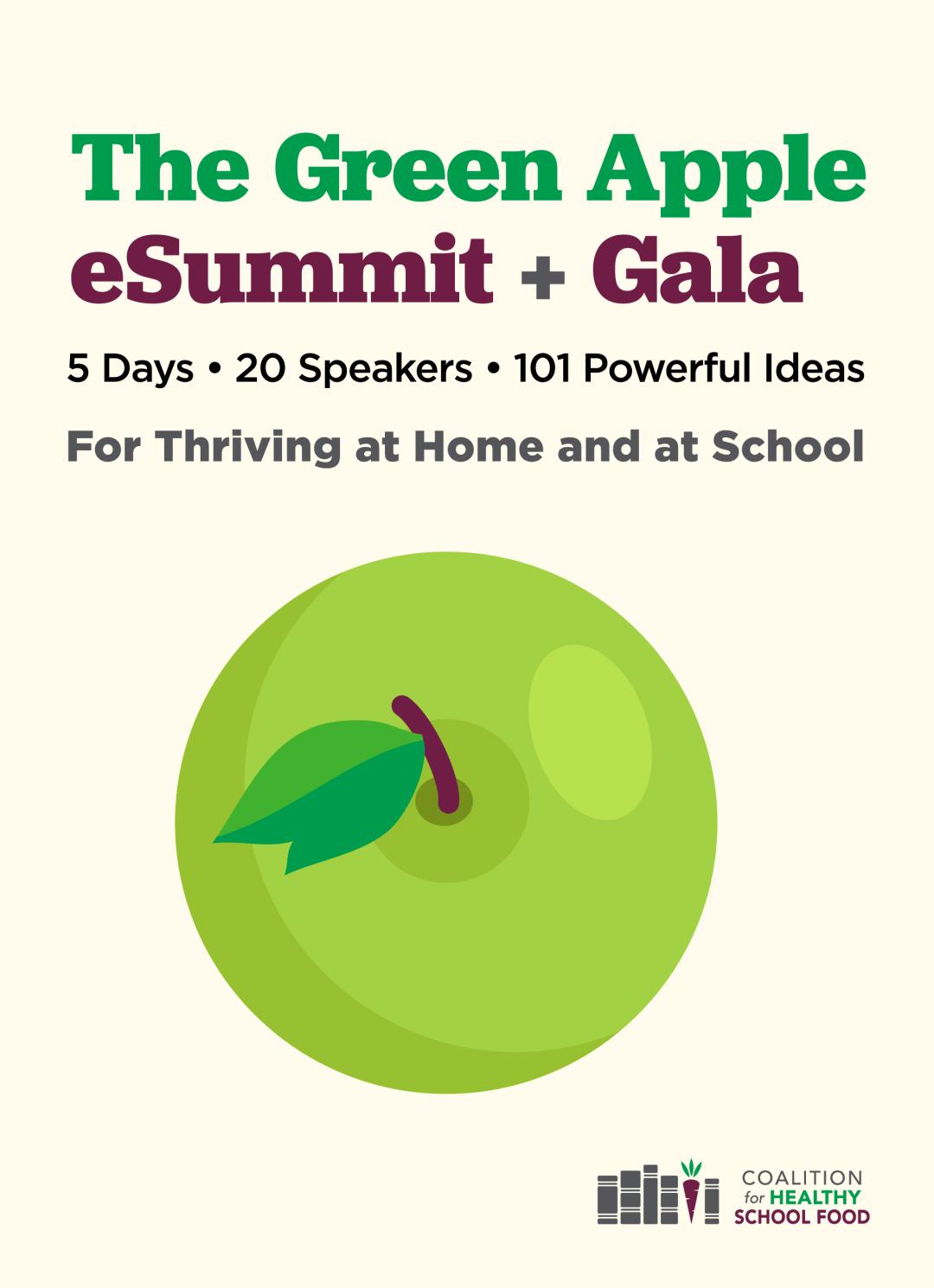 Green Apple eSummit + Gala logo