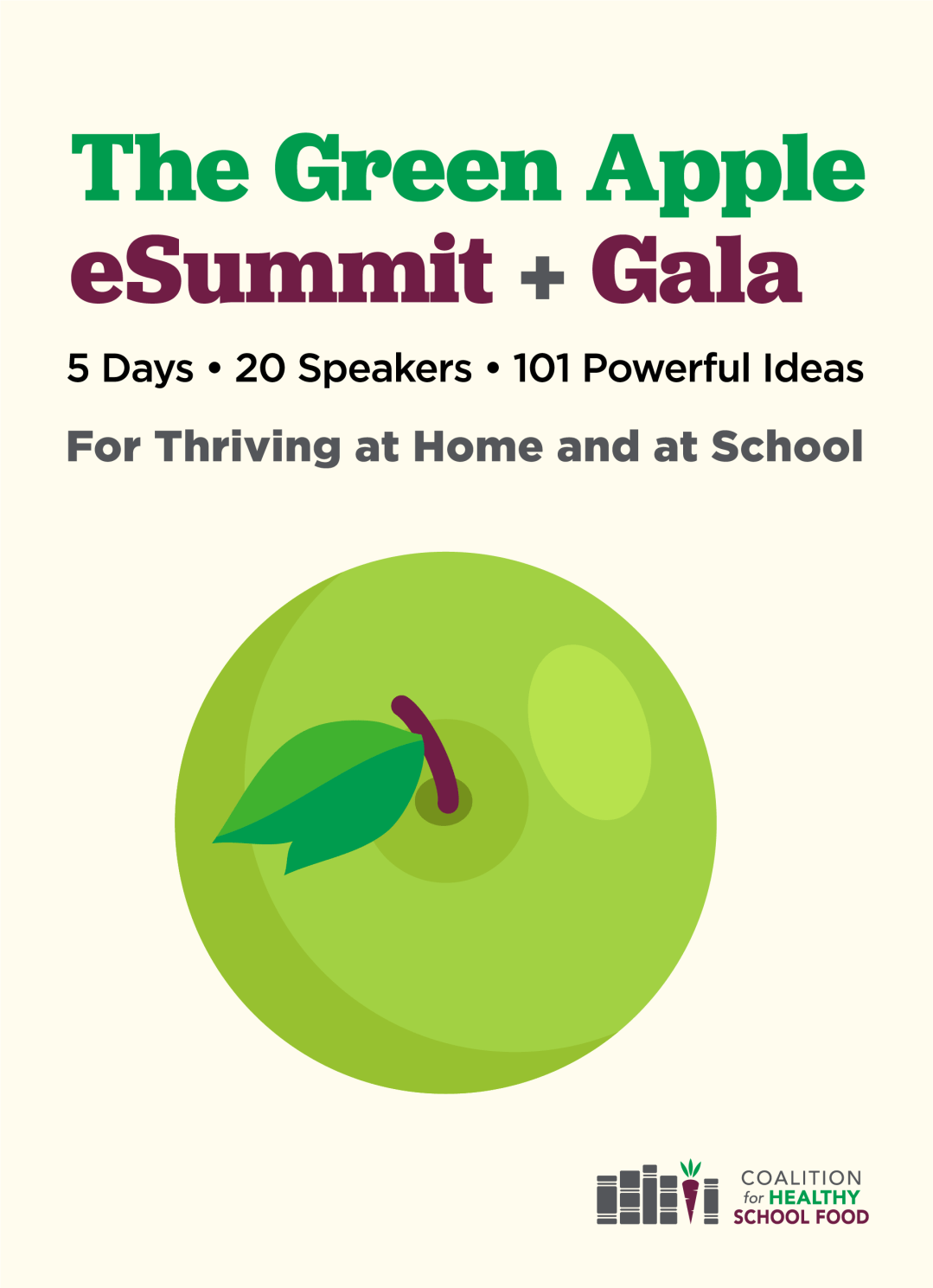 Green Apple eSummit + Gala logo