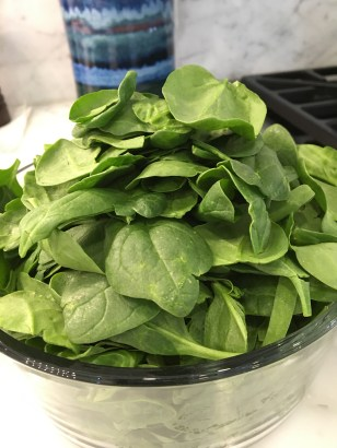One package of spinach before cooking