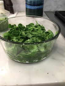 The package of spinach after cooking!