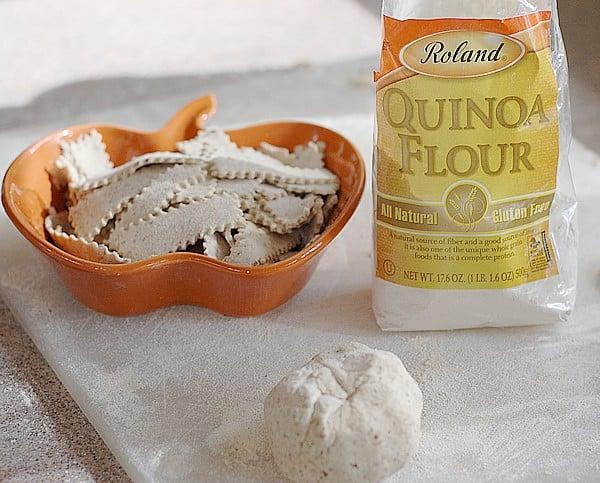quinoa flour and flax gluten free noodles