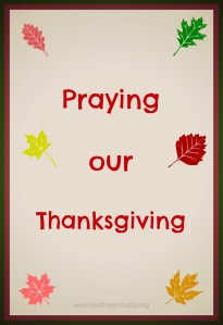 Three Thanksgiving Prayers