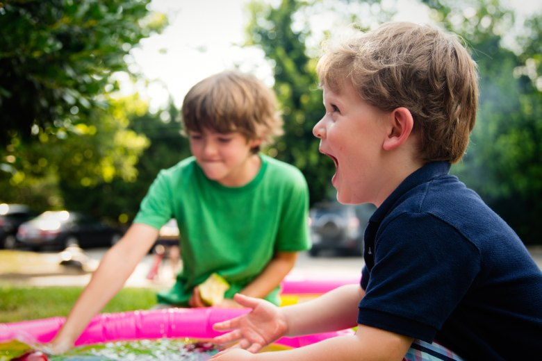 Kids playing at a summer activity and staying active
