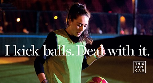 Girl playing football. She kicks balls. Deal with it.