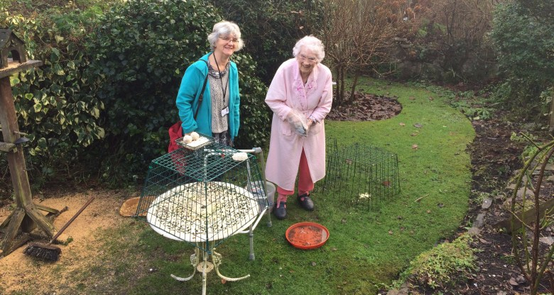 One of our Feed the Birds volunteers visiting someone