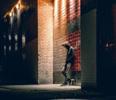 sad teenage boy street