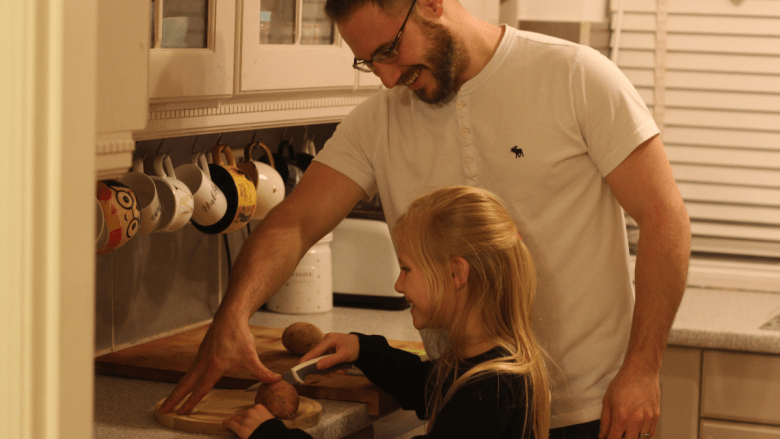 Family cooking from scratch