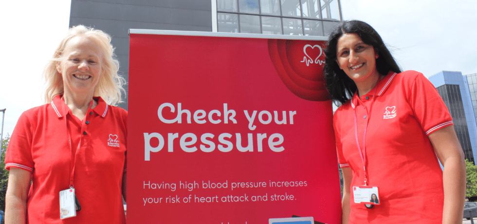 Marian and Jaz, Telford and Wrekin Council's Blood Pressure Advisors.
