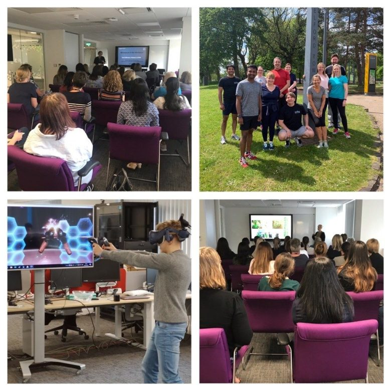 Improving health and wellbeing at Capgemini with TED talks, VR games and outside walks.