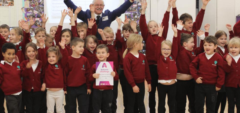The Telford Schools Challenge winners celebrating