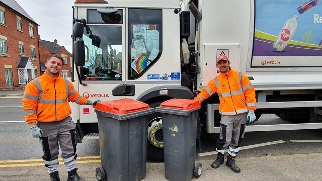 Mike and Kyle, two refuse collectors in lawley who apreciate the love being shown for them