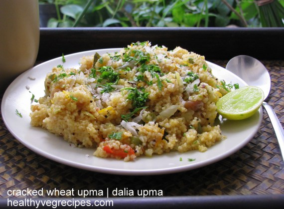 how to make dalia upma