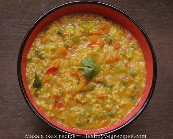 corriander masala oats recipe