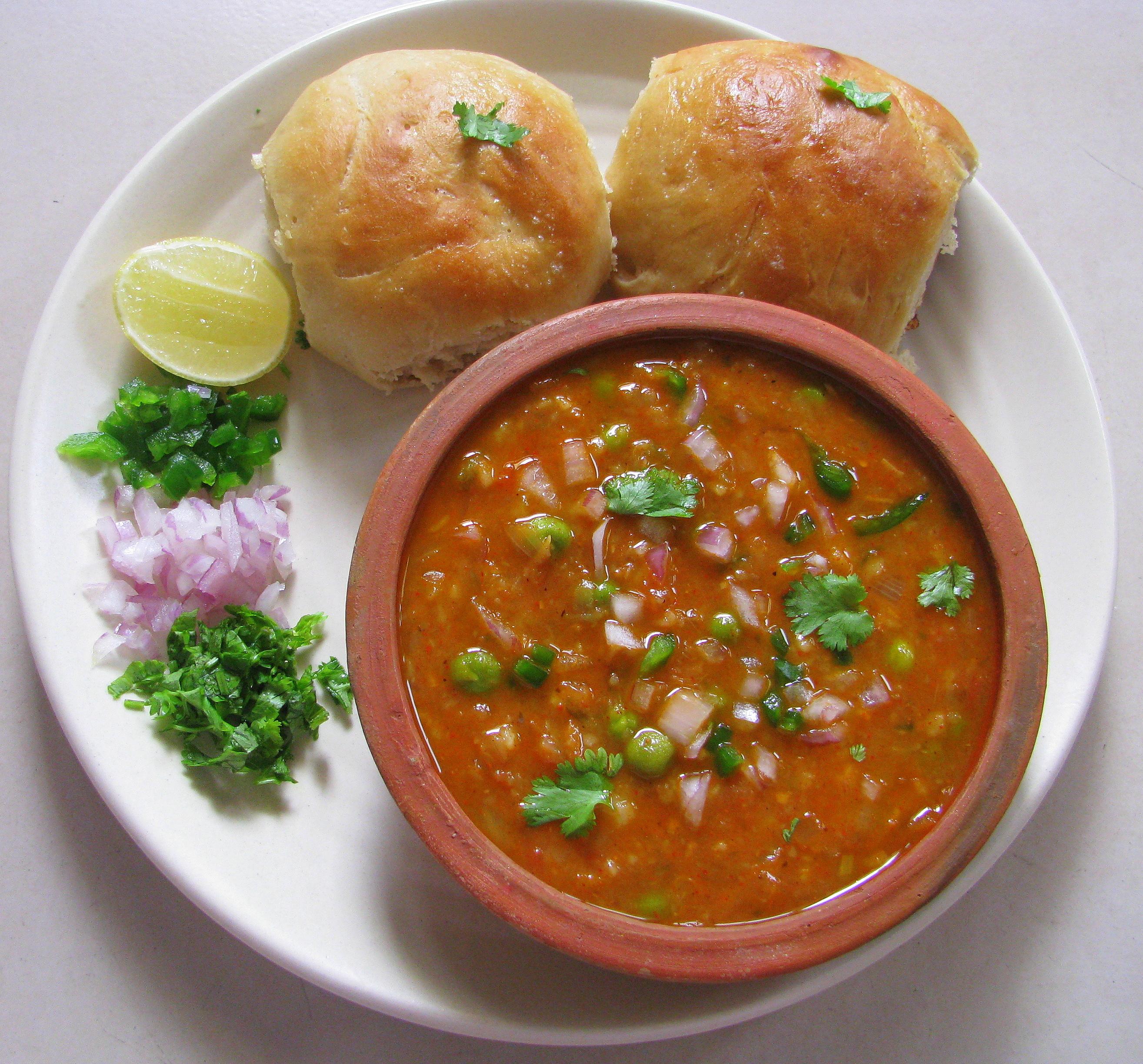 Indian Food Pav Bhaji