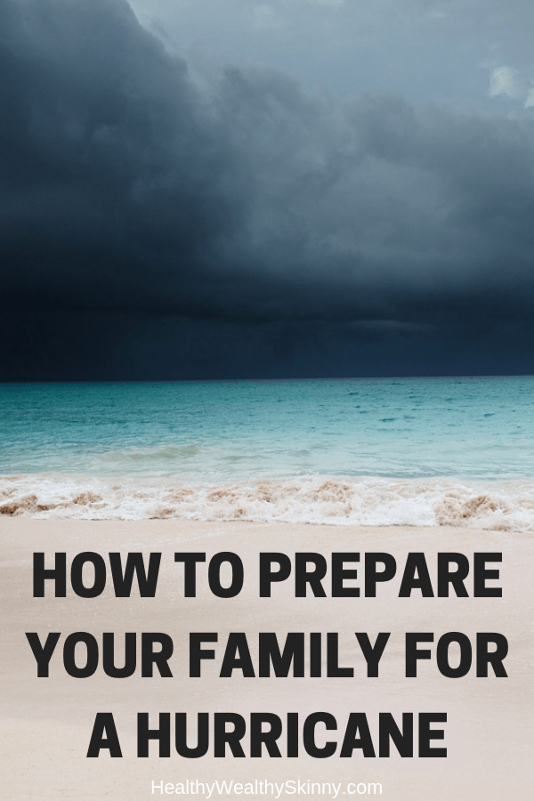 Emergency Preparedness | Is your family prepared for a hurricane? For those in certain areas, hurricane threats are a very real yearly occurrence during hurricane season.  Every family should prepare for natural disasters.  Learn how to prepare your family for a hurricane. #hurricane #familysurvivalkit #survivalkit #emergencykit #emergencyplanning #disasterpreparedness #emergencypreparedness #healthywealthyskinny #HWS