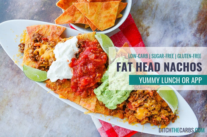 low-carb ground beef recipes - Fat Head nachos. Absolutely a stroke of genius. Low carb, grain free nacho heaven. #ditchthecarbs #lowcarbrecipes #lowcarblove #lowcarbliving #lowcarbdiet #lowcarbfood #lchf #realfoods #wheatfree #nosugars #glutenfree #grainfree #lowcarbfamily #fatheadrecipe