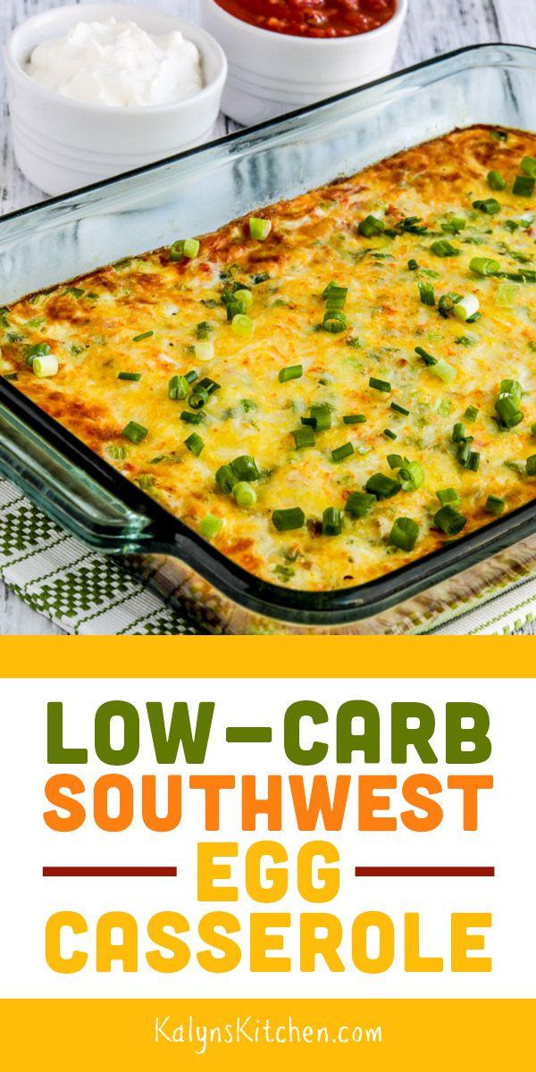 Low-Carb Southwest Egg Casserole Pinterest image