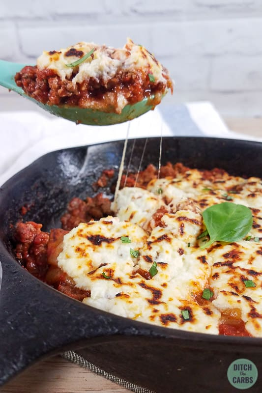 skillet and dripping cheese for ground beef skillet lasagne