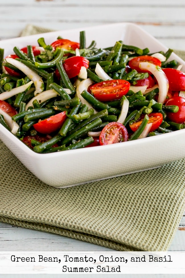 Green Bean and Tomato Salad finished salad in bowl