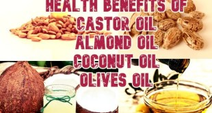 Health Benefits Of Castor Oil, Coconut Oil, Almond Oil and Olive Oil