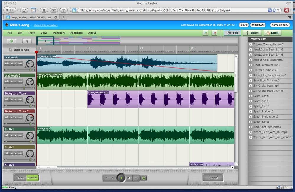 Myna mixing
