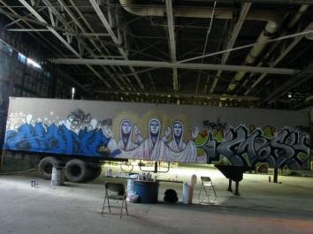 11 Underground Movie Semi Trailer Mural - in Newton, IA