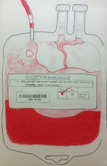 """Andrew Douglas Campbell """"Bad Blood 2"""" risograph"""
