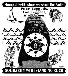 """Poster Syndicate """"Honor All with Whom We Share the Earth"""" screenprint 2016"""