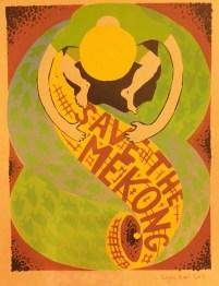 "Roger Peet ""Save the Mekong"" screenprint"