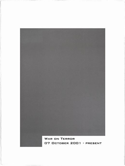 """john ros """"war on terror"""" 2013 edition of 12 lithograph and silkscreen, 30""""x22"""""""