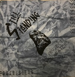 "Sarah Farahat ""Still Standing"" hand-dyed bandana, screenprint"